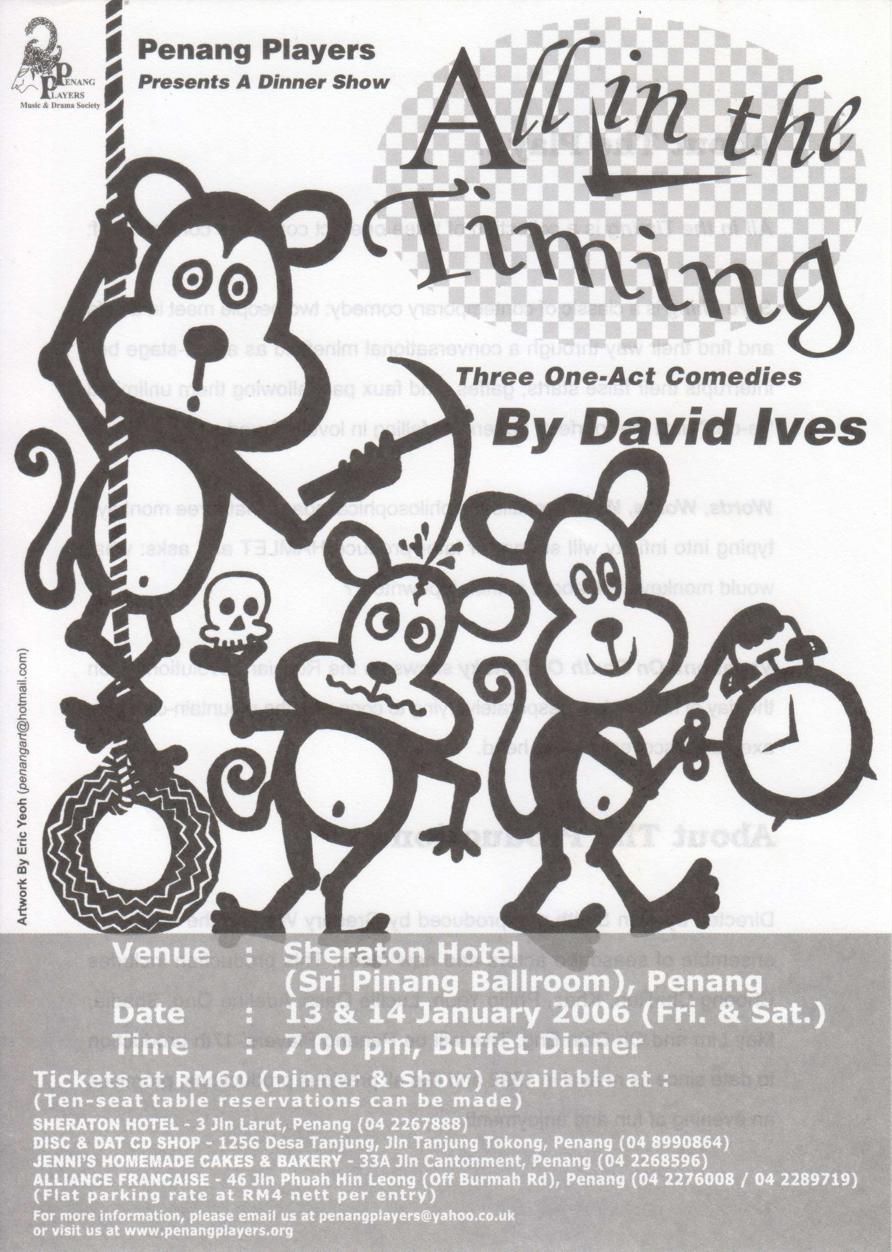 All In The Timing Flyer