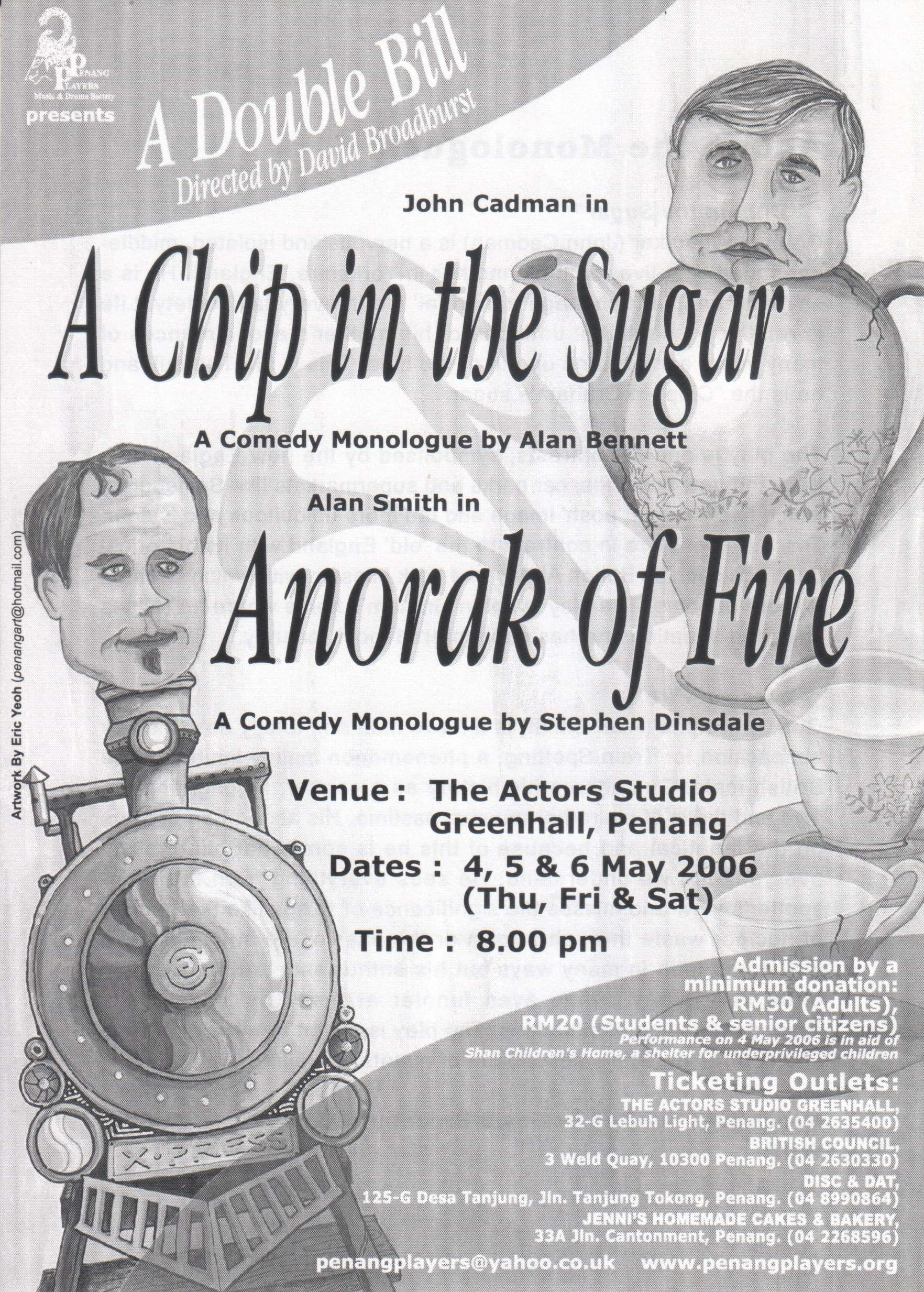 A Chip In The Sugar + Anorak Of Fire Flyer