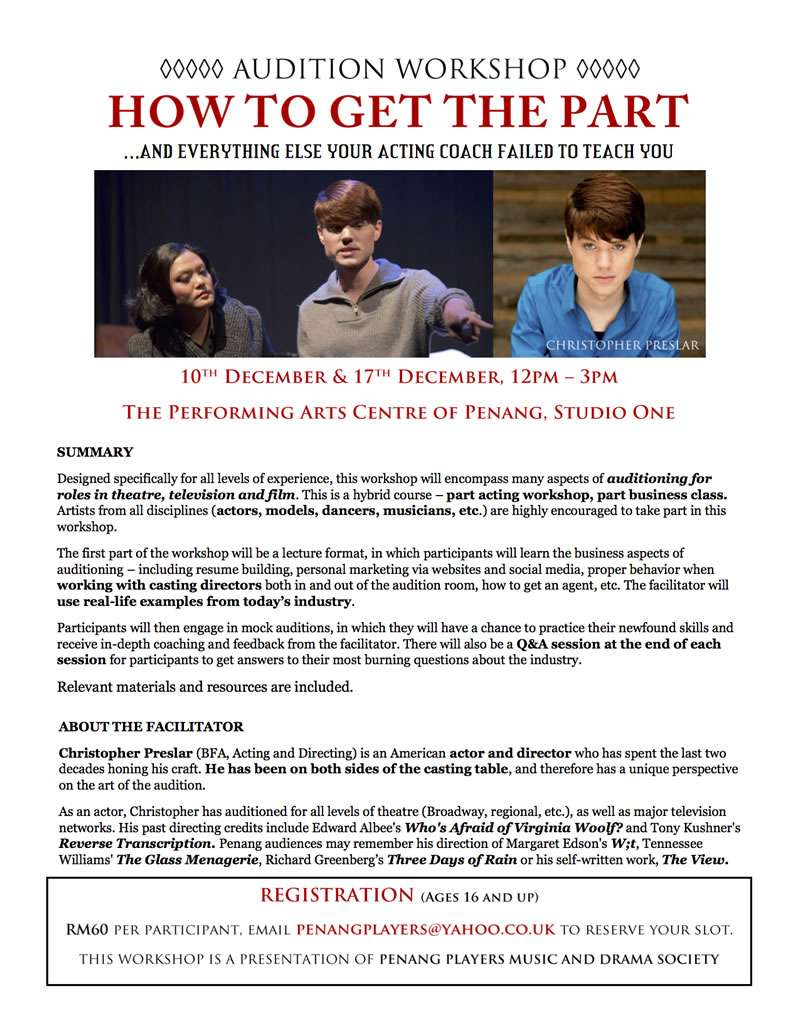 Workshop Auditions Flyer