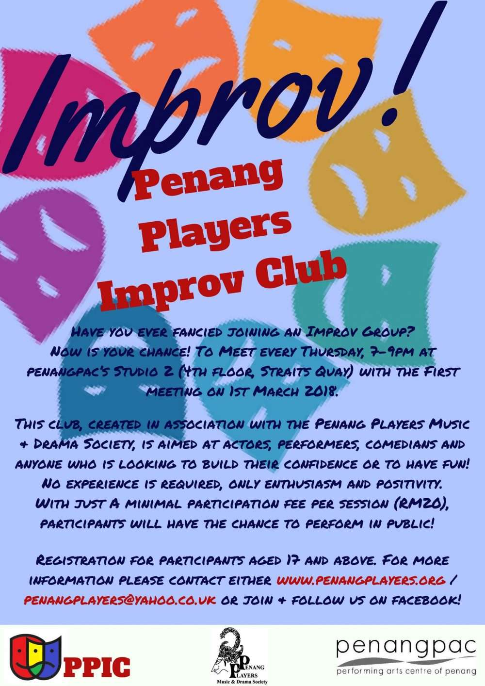 Penang Players Improc Club Flyer