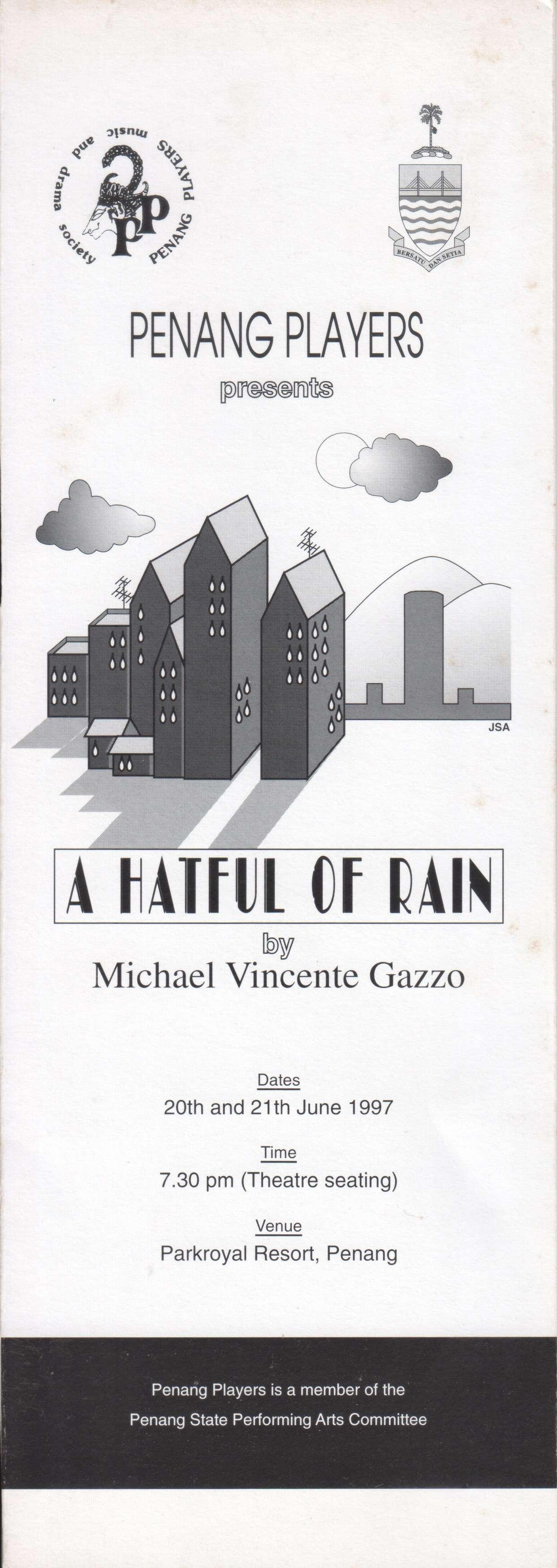 A Hateful Of Rain Programme