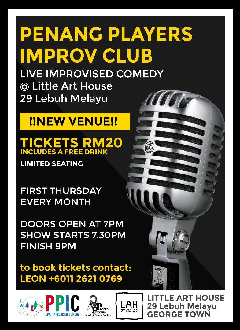 Improv Group New Venue Poster